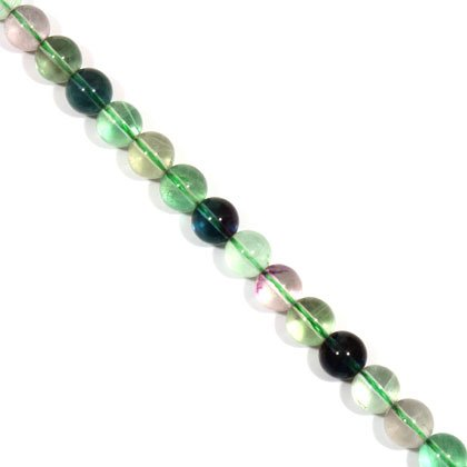 Fluorite Crystal Beads - 10mm Round Bead