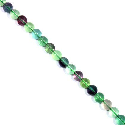 Fluorite Crystal Beads - 8mm Round Bead