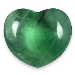 Fluorite Crystal Heart ~45mm