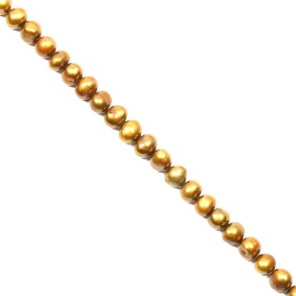 Freshwater Pearl Beads - 8mm Gold