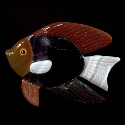 Gemstone Fish Carving