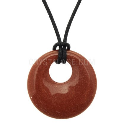 Red Goldstone Donut Pendant (Gift Boxed)
