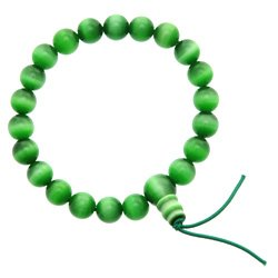Green Cats Eye Power Bead Bracelet