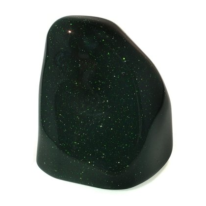 Green Goldstone Freeform Sculpture