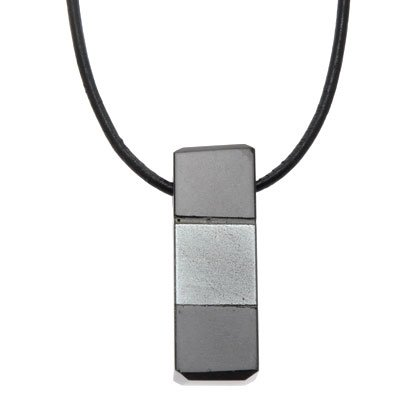Hematite obsidian pendant square 28mm aloadofball Image collections