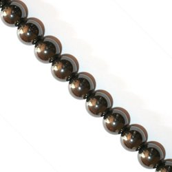 hematite strand product beads purple bronze electroplated mystic nature glittered