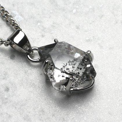 Diamond pendant double terminated 16mm herkimer diamond pendant double terminated 16mm aloadofball Gallery