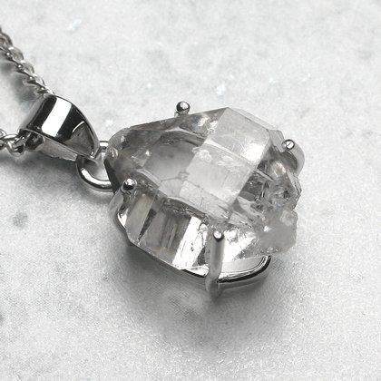 Herkimer diamond pendant double terminated 18mm aloadofball Image collections