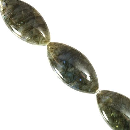 Labradorite Crystal Beads - 50mm Olive