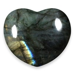 Labradorite Crystal Heart ~45mm