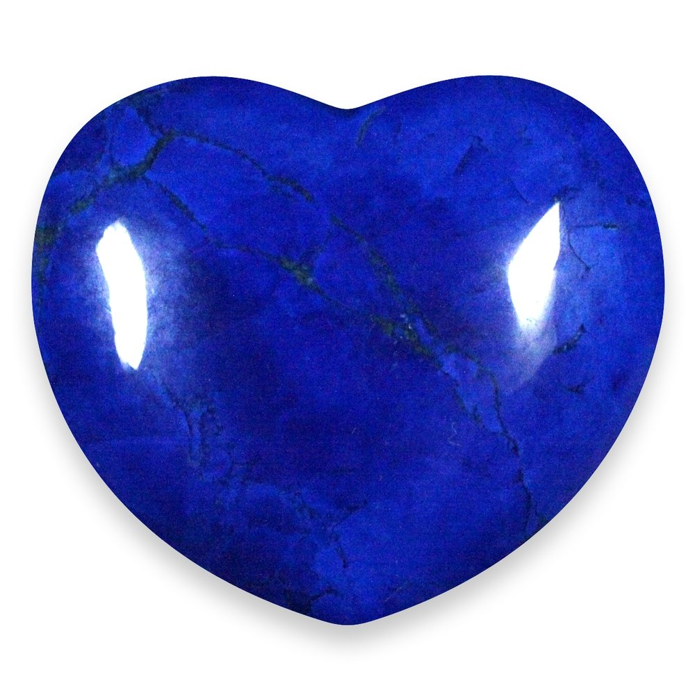 Lapis Howlite Crystal Heart 45mm
