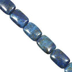 Lapis Lazuli Crystal Beads - 25mm Puff Rectangle