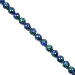 Malachite & Lapis Lazuli Crystal Beads - 8mm Round