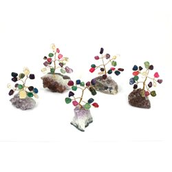 Mixed Crystal and Amethyst Gem Chip Tree - Mini
