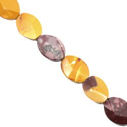 Mookaite Crystal Beads - 25mm Facet Oval