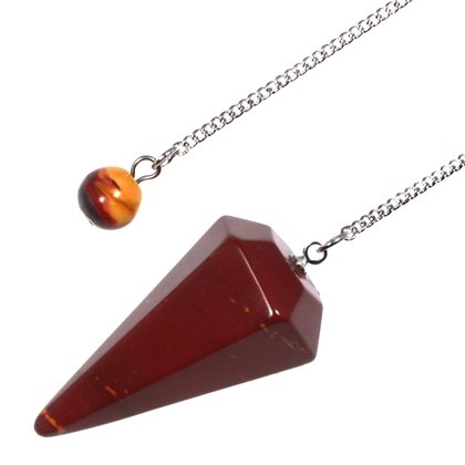 Mookaite Crystal Pendulum - Red