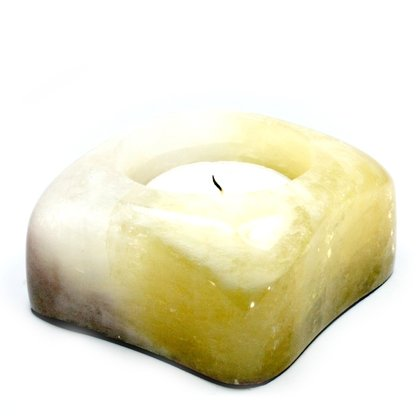 Moonstone Calcite Shallow Tealight Candle Holder ~88mm