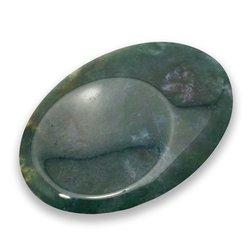 Moss Agate Thumb Stone