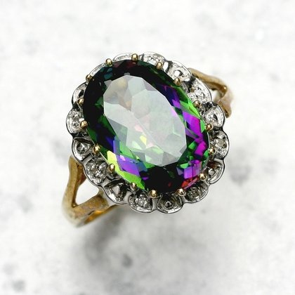 Mystic Topaz Ring in 9ct Gold