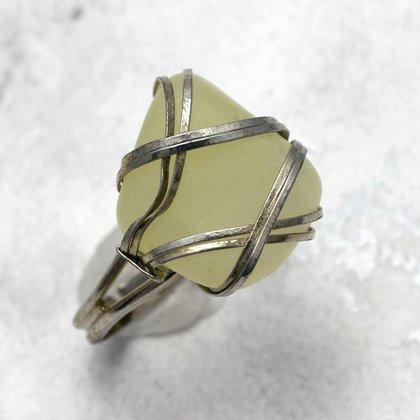 New Jade Wire Wrap Ring ~ 6 US Ring Size , L-½ UK Ring Size