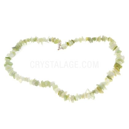 New Jade Gemstone Chip Necklace with Clasp