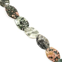 Ocean Jasper Crystal Beads - 25mm Irregular Facet