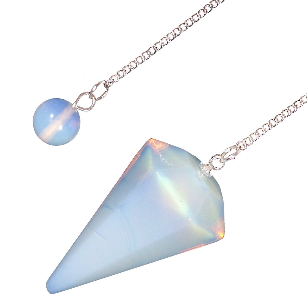 large pendant product necklace cabochon opalite crystal gemstone spiritual