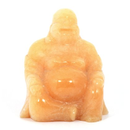Orange Calcite Sitting Buddha Statue