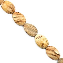 Picture Jasper Crystal Beads - 25mm Twisted Oval