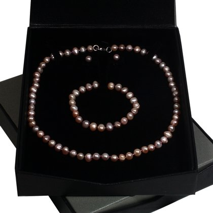 Pink Pearl Jewellery Gift Set
