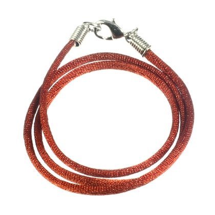 Polyester Cord Necklace - 16inch (Brown)