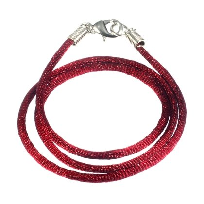 Polyester Cord Necklace - 16inch (Maroon)
