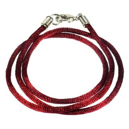 Polyester Cord Necklace - 18inch (Maroon)