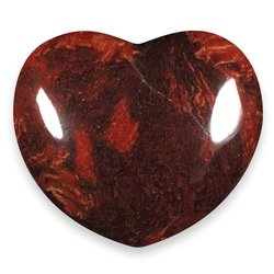 Poppy Jasper Crystal Heart ~45mm