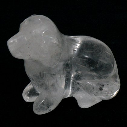 Quartz Carved Crystal Dog