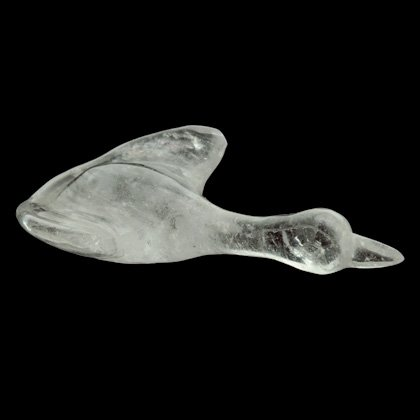 Quartz Carved Flying Swan (Large)