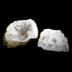 Quartz Geode Pair in Presentation Box