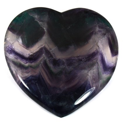 Rainbow Fluorite Crystal Heart Gift Box - Large ~100mm