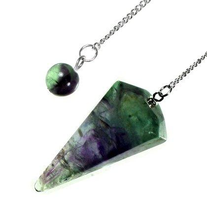 Rainbow fluorite crystal pendulum aloadofball Images