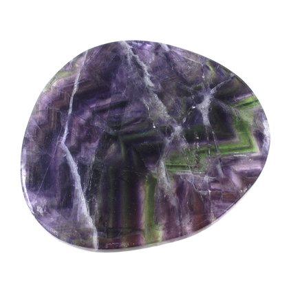 Rainbow Fluorite Slice ~93 x 80mm