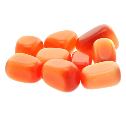 Orange Cats Eye Tumble Stone - Synthetic