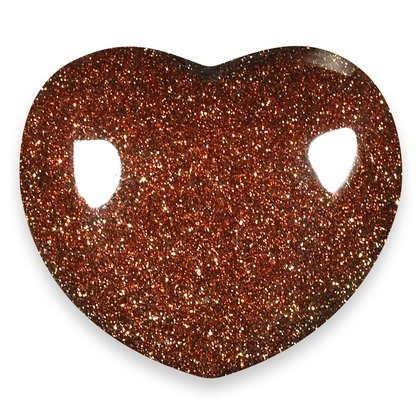 Red GoldStone Crystal Heart ~45mm