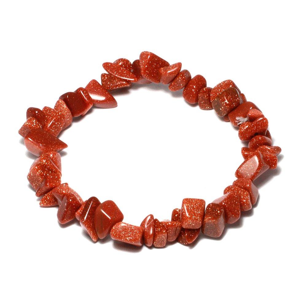 b49f09f7fff2c Red Goldstone Gemstone Chip Bracelet