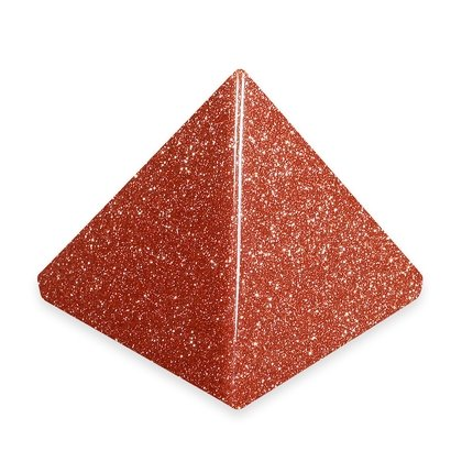 Red Goldstone Pyramid