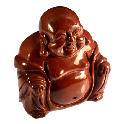 Red Jasper Sitting Buddha Statue