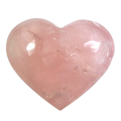 Rose Quartz Crystal Heart  ~56mm