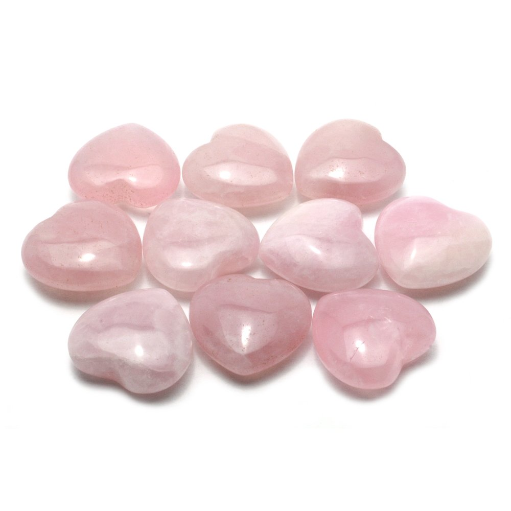Rose Quartz Mini Crystal Heart - 2.5cm