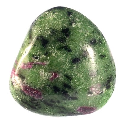 Ruby Zoisite Tumblestone   ~29mm