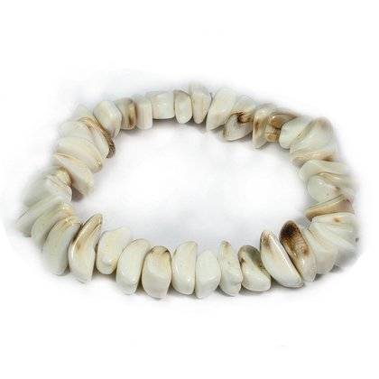 Shell Nugget Bracelet - Small Crescents