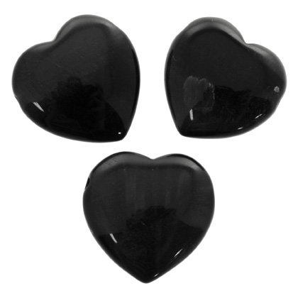 Side Drilled Blue Tiger Eye Hearts - 30mm